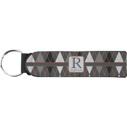 Modern Chic Argyle Keychain Fob (Personalized)