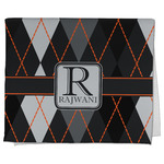 Modern Chic Argyle Kitchen Towel - Full Print (Personalized)