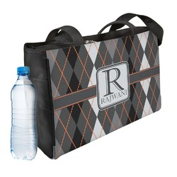 Modern Chic Argyle Ladies Workout Bag (Personalized)