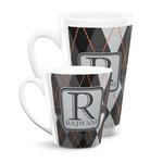 Modern Chic Argyle Latte Mug (Personalized)