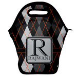 Modern Chic Argyle Lunch Bag w/ Name and Initial
