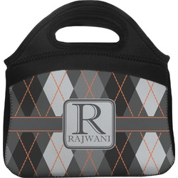 Modern Chic Argyle Lunch Tote (Personalized)