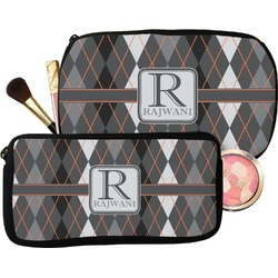 Modern Chic Argyle Makeup / Cosmetic Bag (Personalized)