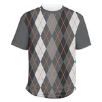 Modern Chic Argyle Men's Crew T-Shirt (Personalized)