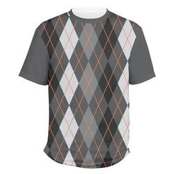 Modern Chic Argyle Men's Crew T-Shirt (Personalized)
