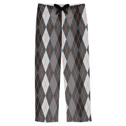 Modern Chic Argyle Mens Pajama Pants (Personalized)