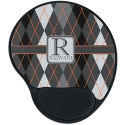 Modern Chic Argyle Mouse Pad with Wrist Support