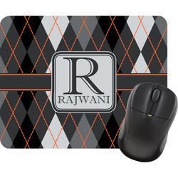 Modern Chic Argyle Mouse Pad (Personalized)
