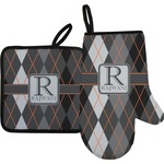 Modern Chic Argyle Oven Mitt & Pot Holder (Personalized)