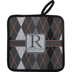 Modern Chic Argyle Pot Holder (Personalized)