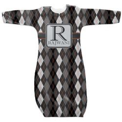 Modern Chic Argyle Newborn Gown - 3-6 (Personalized)