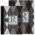 Modern Chic Argyle Notebook Padfolio w/ Name and Initial