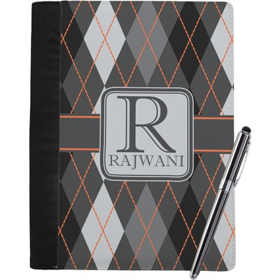 Modern Chic Argyle Notebook Padfolio (Personalized)