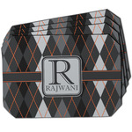 Modern Chic Argyle Dining Table Mat - Octagon w/ Name and Initial