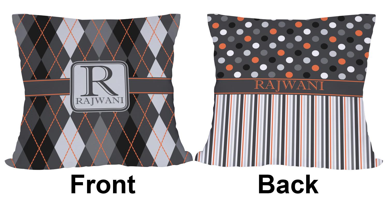 Modern Chic Pillows : Modern Chic Argyle Outdoor Pillow - 20