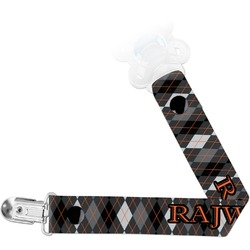 Modern Chic Argyle Pacifier Clips (Personalized)
