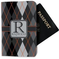 Modern Chic Argyle Passport Holder - Fabric (Personalized)