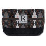 Modern Chic Argyle Canvas Pencil Case w/ Name and Initial