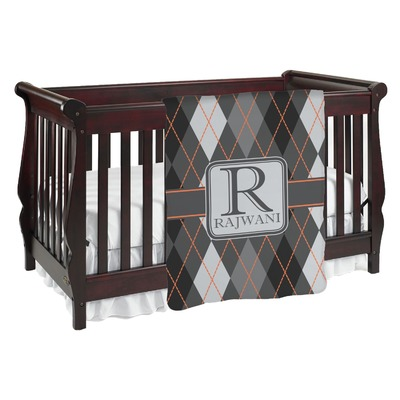Modern Chic Argyle Baby Blanket (Personalized)
