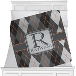 Modern Chic Argyle Minky Blanket (Personalized)