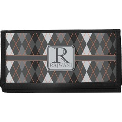 Modern Chic Argyle Canvas Checkbook Cover (Personalized)