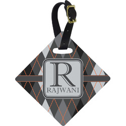 Modern Chic Argyle Diamond Luggage Tag (Personalized)