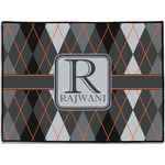 Modern Chic Argyle Door Mat (Personalized)