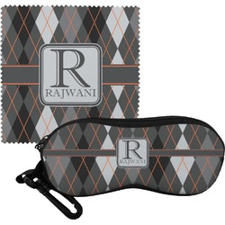 Modern Chic Argyle Eyeglass Case & Cloth (Personalized)