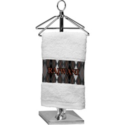 Modern Chic Argyle Cotton Finger Tip Towel (Personalized)