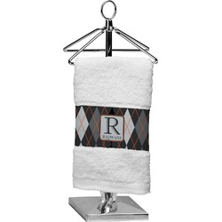 Modern Chic Argyle Finger Tip Towel (Personalized)
