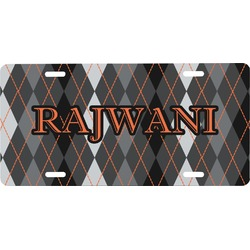 Modern Chic Argyle Front License Plate (Personalized)