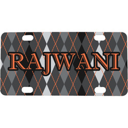 Modern Chic Argyle Mini / Bicycle License Plate (Personalized)