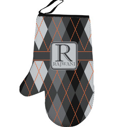 Modern Chic Argyle Left Oven Mitt (Personalized)