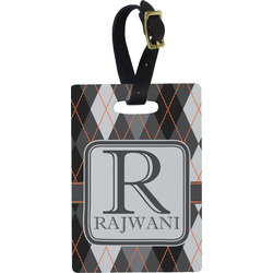 Modern Chic Argyle Rectangular Luggage Tag (Personalized)