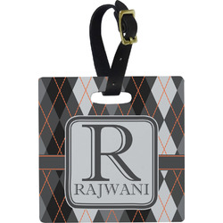 Modern Chic Argyle Luggage Tags (Personalized)