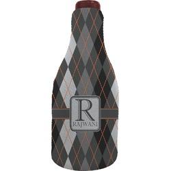 Modern Chic Argyle Wine Sleeve (Personalized)