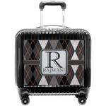 Modern Chic Argyle Pilot / Flight Suitcase (Personalized)