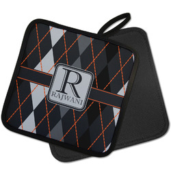 Modern Chic Argyle Pot Holder w/ Name and Initial