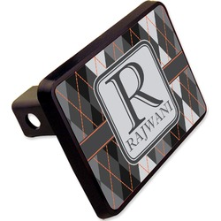 "Modern Chic Argyle Rectangular Trailer Hitch Cover - 2"" (Personalized)"
