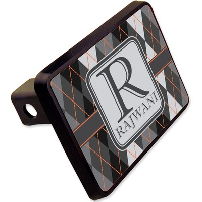 """Modern Chic Argyle Rectangular Trailer Hitch Cover - 2"""" (Personalized)"""