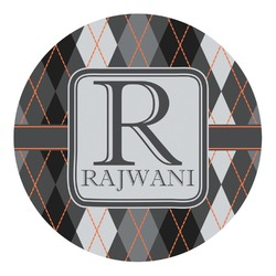 Modern Chic Argyle Round Decal (Personalized)