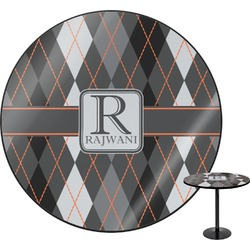 Modern Chic Argyle Round Table (Personalized)