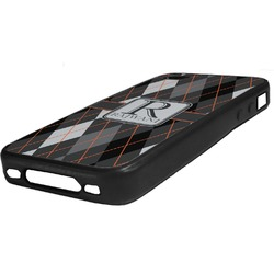 Modern Chic Argyle Rubber iPhone Case 4/4S (Personalized)