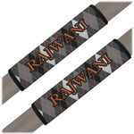 Modern Chic Argyle Seat Belt Covers (Set of 2) (Personalized)