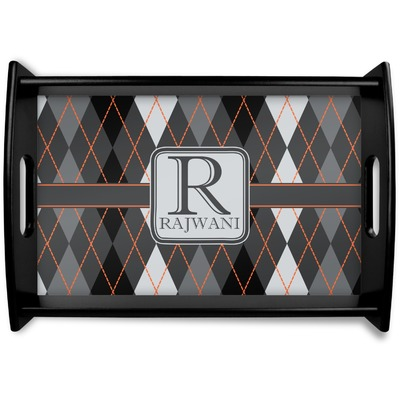 Modern Chic Argyle Wooden Trays (Personalized)