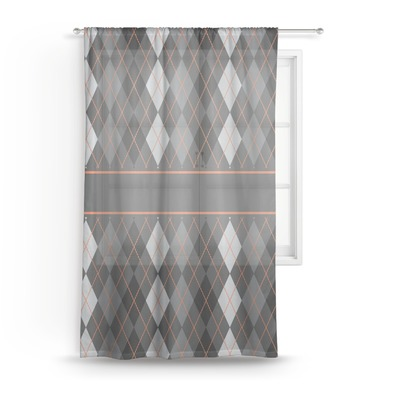 Modern Chic Argyle Sheer Curtains (Personalized)