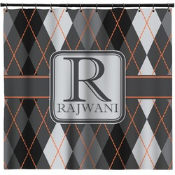 Modern Chic Argyle Shower Curtain (Personalized)