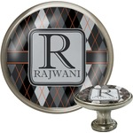 Modern Chic Argyle Cabinet Knobs (Personalized)