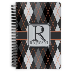 Modern Chic Argyle Spiral Bound Notebook (Personalized)
