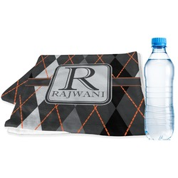Modern Chic Argyle Sports Towel (Personalized)